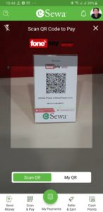 eSewa Scan and Pay QR Table-top
