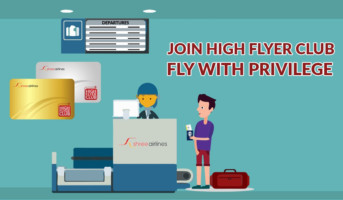 Join shree airlines higher flyer club and fly with privilege
