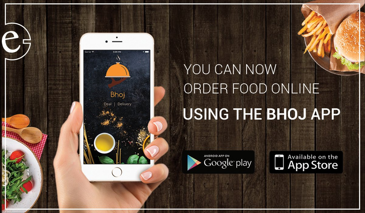 Use Bhoj to order food online and pay through eSewa