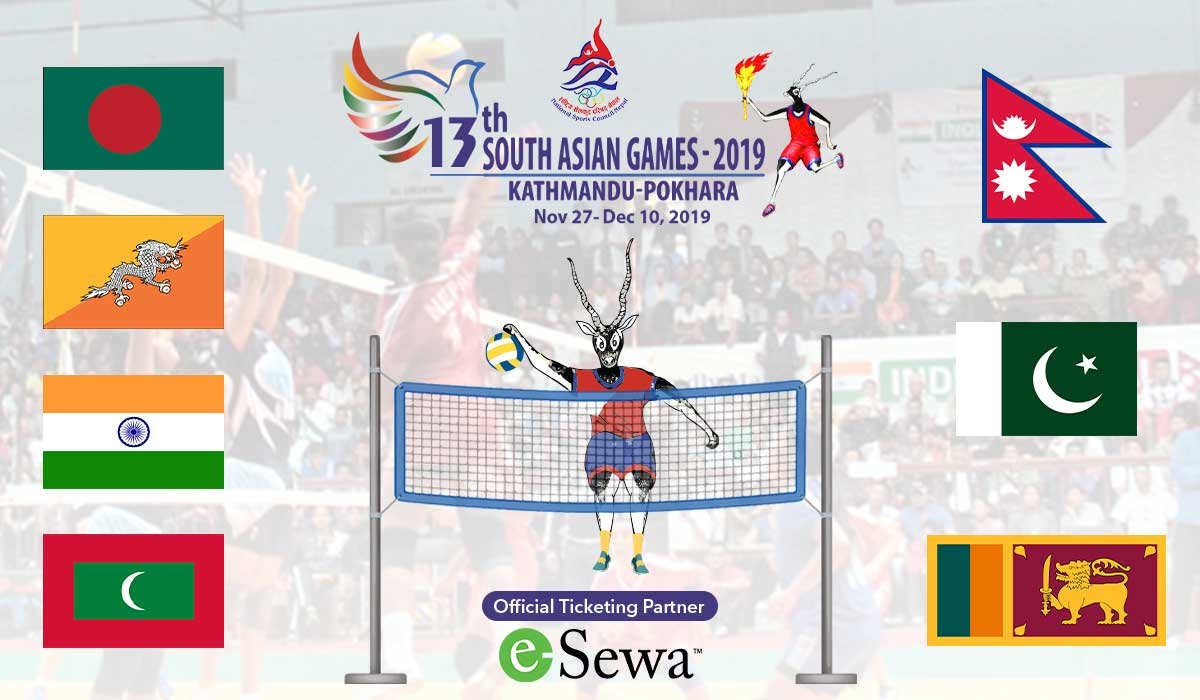 13th South Asian Games 2019 Volleyball ticketing partner