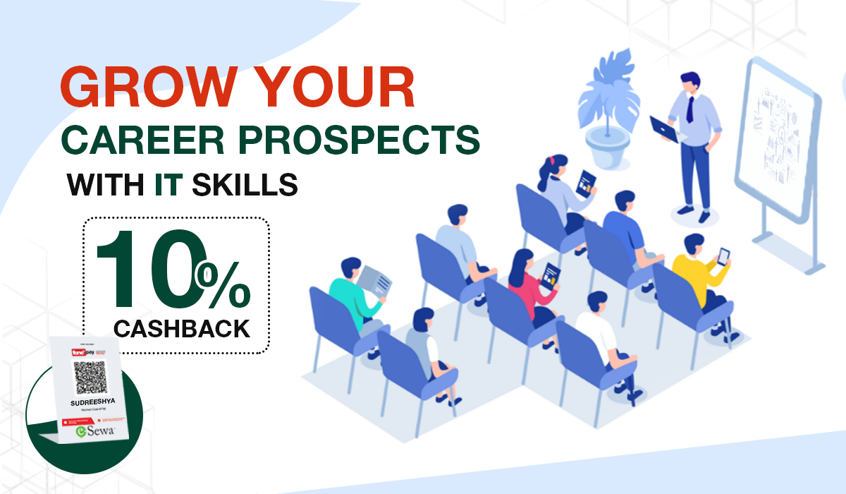 Grow your career prospects with IT Skills at Sudreeshya IT Training Academy and get 10% cashback