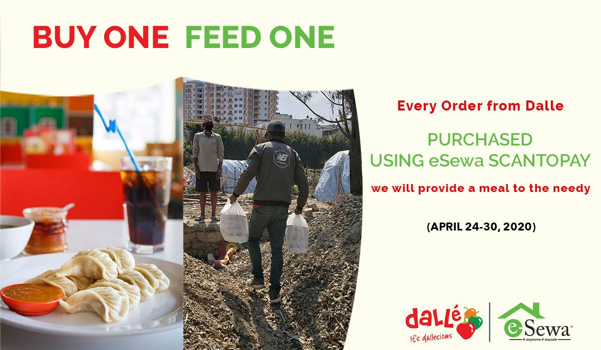 Buy One, Feed One iniative by eSewa in association with Dalle